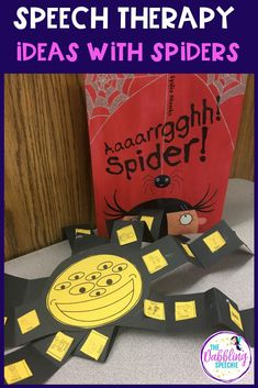 Spooky, Crawly Spider Activities For Speech to work on talking all about spiders in speech. Halloween Speech Therapy Activities, Preschool Speech Therapy, Speech Language Therapy, Easter Activities, Speech And Language, Preschool Crafts, Fun Activities, Spider Crafts, Special Education Classroom