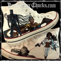 Black Avengers Custom Converse Sneakers, $289.00