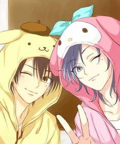 Hot Anime Boy, Cute Anime Guys, Cute Anime Couples, Anime Girls, Sanrio Hello Kitty, Little Twin Stars, Sanrio Characters, Anime Characters, Manga Anime