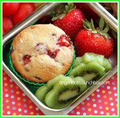 Super Scrumptious Cinnamon Sugar Strawberry Muffins
