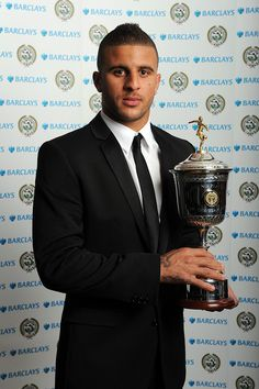 Kyle Walker with his PFA Young Player of the Year Award, via Flickr.