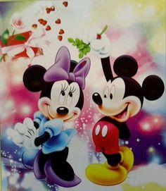 DisneyMickey and Minnie DIY 5d Diamond painting Kit 50cm x 56cm Cross Stitch #Zyneri #Frame