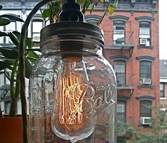 DIY idea  :: BALL JAR LAMP
