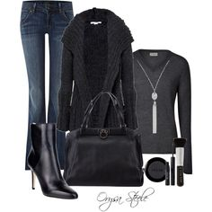 """Charcoal"" by orysa on Polyvore"
