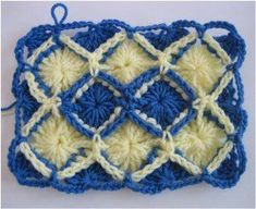 Bavarian crochet is a great technique to learn if you& looking for a new crochet challenge. Great for purses, afghans, and more the Bavarian Rectangle will give texture and style to all your crochet patterns. Crochet Simple, Easy Crochet Hat, Crochet Crafts, Crochet Projects, Free Crochet, Craft Projects, Crochet Squares Afghan, Crochet Motifs, Crochet Stitches Patterns