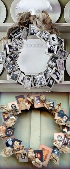 18 Incredible Christmas Gift Ideas For Family Incredible Christmas Gift Ideas for Family Members: Picture Wreath - Diy Crafts You & Home Design Homemade Christmas Gifts, Homemade Gifts, Christmas Gifts For Family, Family Gift Ideas, Christmas Pictures, Christmas Ideas, Christmas Quotes, Family Gifts, Last Minute Christmas Gifts Diy