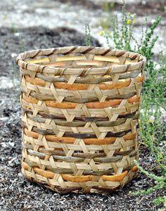 Basket of reed and bark by Else Marie Pedersen