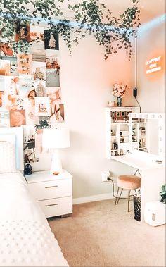 Dorm Room Designs, Room Design Bedroom, Room Ideas Bedroom, Bedroom Inspo, Bedroom Decor For Teen Girls, Teen Room Decor, Cozy Room, Dream Rooms, Dream Bedroom