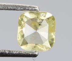 0.27 Ct, 3.9 X 3.8 X 1.6 MM, Cushion Shape Light Green Color Natural Loose Beautiful Diamond, Wholesale Polished Diamond, Birthstone, R692 by RusticDiamondWorld on Etsy