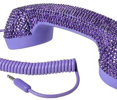 Compatible with all 3.5mm jack mobile phones and computers, including iPhone, BlackBerry, iPad and latest MacBooks Noise-reducing technology for a crisp and polished sound Faux Purple Rhinestones finish Eliminates up to 99 percentage of the radiation absorbed compared to a direct use of mobile phones One touch button for convenient pick-up/hang-up directly from the handset (not all mobile phone support function)