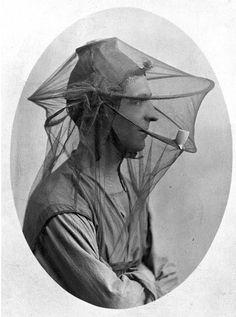 vintage beekeeping hat.-- space for yo pipe