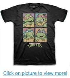 TMNT Four Turtles Squared Adult T-Shirt