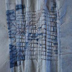 Linear Manipulations - heat transfer print and machine stitch