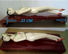 CHINESE DOCTORS MODEL | Fine Ox bone Chinese Doctor's Model Nude Lady With Wooden Stand