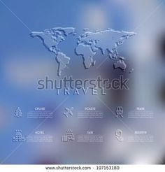 Blurred unfocused background. Travel theme, vector illustration.