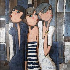 Les Triplettes de Cabourg 120x120cm