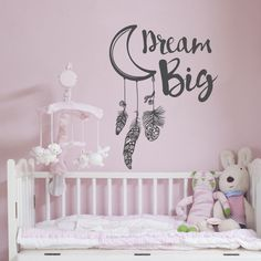 Moon Dream Catcher Wall Decal Vinilos Decorativos For Kids Rooms Quote Dream Big Feather Dreamlike Wall Stickers Art MuralSYY167-in Wall Stickers from Home & Garden on Aliexpress.com   Alibaba Group