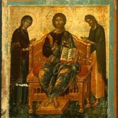 Deesis · The Sinai Icon Collection Byzantine Art, Byzantine Icons, Religious Icons, Religious Art, Russian Icons, Best Icons, Image Painting, Icon Collection, Art Icon