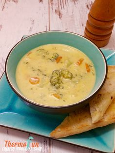 Blitz to hide vegetables or add some protein to this thermomix cheesy broccoli soup, and you have dinner on the table with the crowd wanting more more Soup Recipes, Vegan Recipes, Dinner Recipes, Thermomix Soup, Cheesy Broccoli Soup, Hidden Vegetables, Food Hacks, Meal Planning, Yummy Food