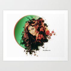 Anahi @Anahi Art Print for sale by Rene Alberto - $17.68