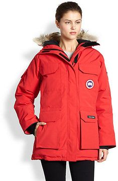 It's 7 degrees and falling...this is looking pretty good about now!  Canada Goose Fur-Trimmed Down Expedition Parka on shopstyle.com