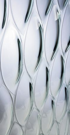 Ellisse Textured Glass Panels by Joel Berman Glass Studios