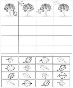 Kindergarten Math Worksheets, Worksheets For Kids, Maths, Kids Learning Activities, Autumn Activities, Montessori Math, Fall Preschool, Autumn Crafts, School Decorations