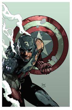 "Captain America ""Fallen Son"" -Dave Seguin After Leinil Yu"