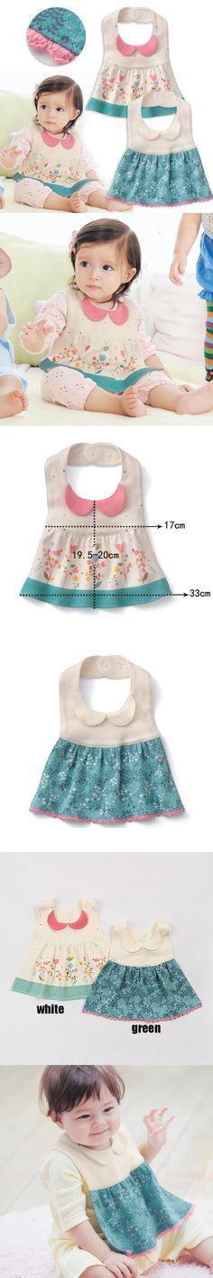 Fancy Infant Baby full dress style bibs Kid Washable Bib Baby Feeding Care children accessories baby bibs F15