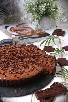 Tarta sedosa de chocolate - Mis Dulces Joyas