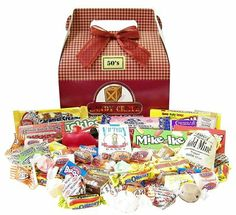 Candy Crate 1950's Retro Candy Gift Box - Free Shipping