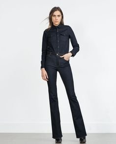 Image 1 of RAW FLARE JEANS from Zara