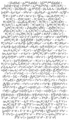 The standard model of particle physics. What's not to love?