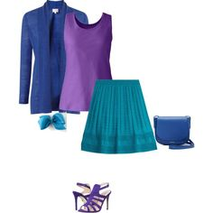 Warmspring's orchid is a true purple with full saturation. I styledthis rich color with a bright blue and turquoise that are directly next to the orchid on the warm spring color wheel.  For a more dynamic look, pair this purple with a warm golden yellow.  Have fun and wear what you lo