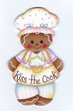 Kiss the Cook Gingerbread Painting E-Pattern