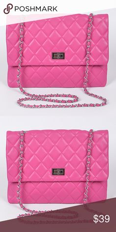 a3f8cf535f Quilted Large Princess Pink Clutch Bag Quilted Large Princess Pink Clutch  Bag * New with tags