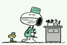 Dr . snoopy and Dr. WOODSTOCK