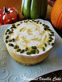 Raw White Chocolate Pumpkin Cheesecake