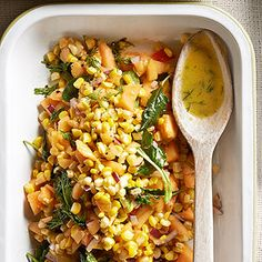 Corn and Cantaloupe Chopped Salad From Better Homes and Gardens, ideas and improvement projects for your home and garden plus recipes and entertaining ideas.