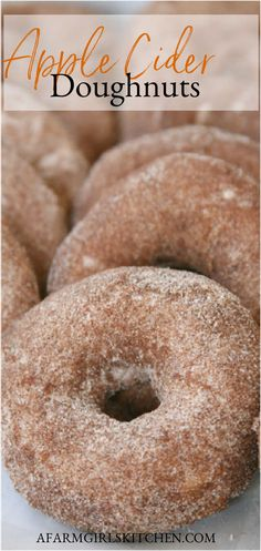 Donut Recipes, Apple Recipes, Fall Recipes, Apple Cider Doughnut Recipe, Baked Apple Cider Donuts, Grandma's Recipes, Baked Donuts, Best Apple Cider, Homemade Apple Cider