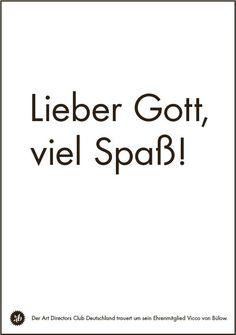 Lieber Gott, viel Spaß - Todesanzeige Loriot Dear God, have fun - obituary for Loriot
