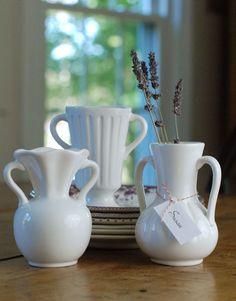Vintage Style White Ware Vase Set// LOVE 26.00!!!