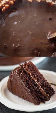 Perfect Chocolate Cake, Amazing Chocolate Cake Recipe, Chocolate Chocolate, Easy Moist Chocolate Cake, Perfect Cake Recipe, Chocolate Ganache Cake, Cake Recipe For Two, Baking Chocolate Cake, Chocolate Cake Recipe Without Coffee