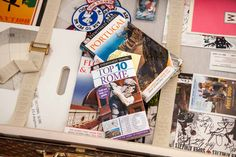A place to store a dog's travel books ... and random collectables. http://montecristotravels.com/a-travel-dogs-room-revealed/