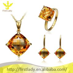 Beautiful 18K Solid Yellow Gold 100% Natural Citrine Jewelry Set, View jewelry set, First Lady Product Details from Guangzhou First Lady Jewelry Co., Ltd. on Alibaba.com