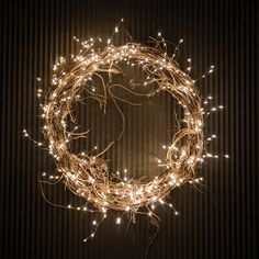 A simple grapevine wreath layered with our Stargazer Copper Twine Branch Lights ., : A simple grapevine wreath layered with our Stargazer Copper Twine Branch Lights …, Indoor Christmas Lights, Holiday Lights, Outdoor Christmas, Christmas Diy, Christmas Decorations, Grapevine Christmas, Grapevine Garland, Lighted Wreaths, Holiday Wreaths