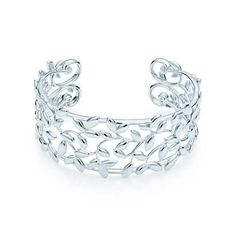 I'm really loving all the Tiffany cuffs this season! Paloma Picasso® Olive Leaf cuff in sterling silver, medium.