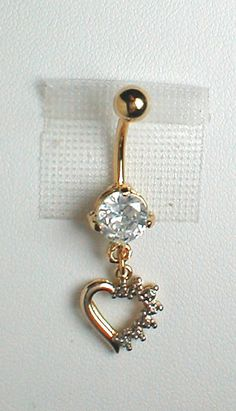 Unique Belly Ring  Gold Plate over Sterling by pondgazer2004, $23.95