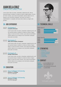 free modern and simple resume / cv template