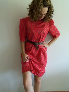 Vintage Red Sheath/ Tunic/ Boho/ Hipster/ Trend by FunkyOldSoul, $18.00